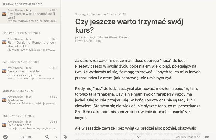 Paweł Krużel - kanał RSS
